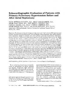 Echocardiographic Evaluation of Patients with ... - Wiley Online Library