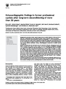 Echocardiographic findings in former professional cyclists ... - CiteSeerX