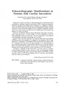 Echocardiographic Manifestations in Patients with Cardiac Sarcoidosis