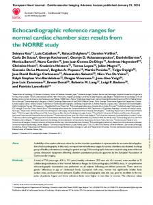 Echocardiographic reference ranges for normal