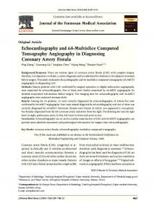 Echocardiography and 64-Multislice Computed Tomography ... - Core