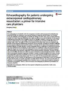 Echocardiography for patients undergoing ... - Semantic Scholar