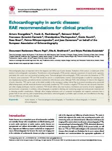 Echocardiography in aortic diseases