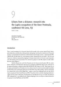 Echoes from a distance: research into the Lapita ... - ANU Press