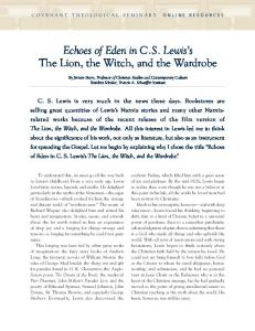 Echoes of Eden in C.S. Lewis's The Lion, the Witch, and the Wardrobe