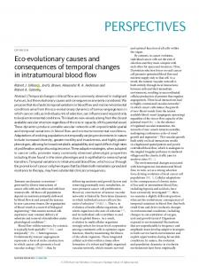 Eco-evolutionary causes and consequences of ...
