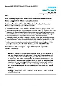Eco-Friendly Synthesis and Antiproliferative Evaluation of ... - MDPI