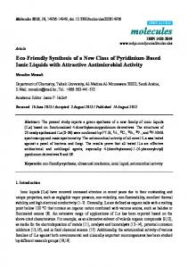 Eco-Friendly Synthesis of a New Class of ... - Semantic Scholar