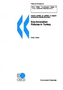 Eco-Innovation Policies in Turkey - OECD.org