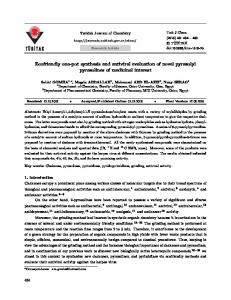 Ecofriendly one-pot synthesis and antiviral evaluation of ... - DergiPark