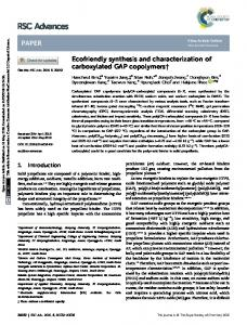 Ecofriendly synthesis and characterization of