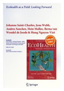 Ecohealth as a Field