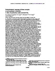 Ecohydrological responses of dense canopies to ... - CiteSeerX