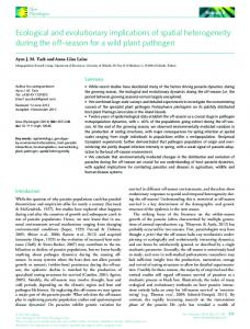 Ecological and evolutionary implications of spatial heterogeneity ...