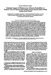 Ecological Aspects of Phlebotomines (Diptera: Psychodidae) - BioOne