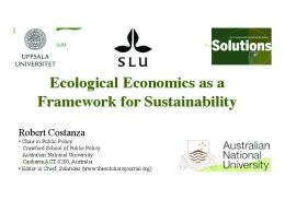 Ecological Economics as a Framework for Sustainability