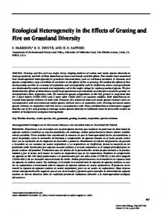 Ecological Heterogeneity in the Effects of Grazing and ... - FSU Biology