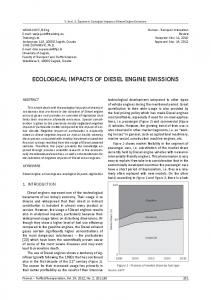 ECOLOGICAL IMPACTS OF DIESEL ENGINE EMISSIONS
