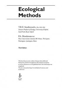 Ecological Methods, Third Edition