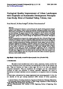 Ecological Quality Improvement of Urban Landscapes ...
