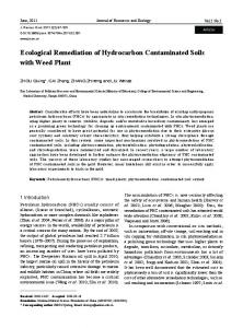 Ecological Remediation of Hydrocarbon Contaminated Soils with ...