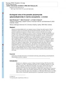 Ecological roles of the parasitic phytomyxids ...