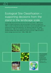 Ecological Site Classification - Forestry Commission