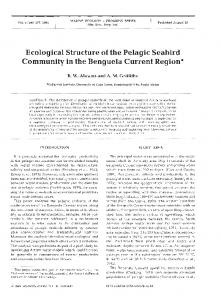 Ecological Structure of the Pelagic Seabird ... - Inter Research