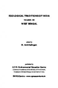 ecological traditions of india west bengal