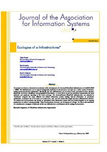 Ecologies of e-Infrastructures