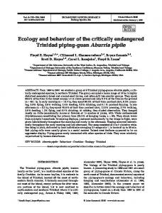 Ecology and behaviour of the critically endangered ... - Inter Research