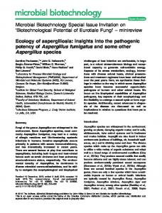 Ecology of aspergillosis: insights into the ... - Wiley Online Library
