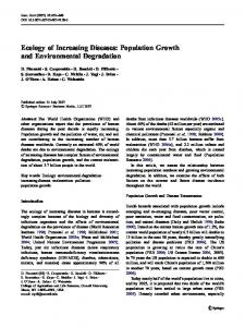 Ecology of Increasing Diseases: Population Growth ... - Springer Link