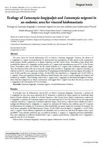 Ecology of Lutzomyia longipalpis and Lutzomyia ... - Semantic Scholar