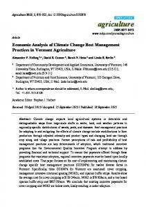 Economic Analysis of Climate Change Best Management Practices in ...