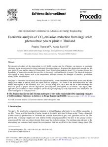 Economic analysis of CO2 emission reduction from ... - ScienceDirect