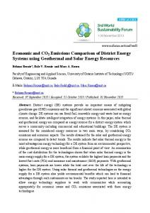 Economic and CO2 Emissions Comparison of District Energy Systems ...