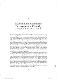Economic and Community Development in Kentucky