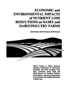 ECONOMIC and ENVIRONMENTAL IMPACTS of ... - AgEcon Search