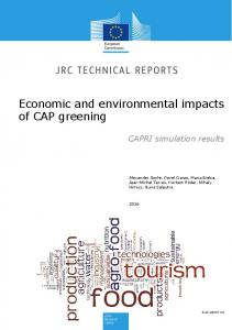 Economic and environmental impacts of CAP greening