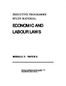 Economic and Labour Laws - The Institute of Company Secretaries ...