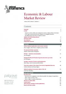 Economic and Labour Market Review