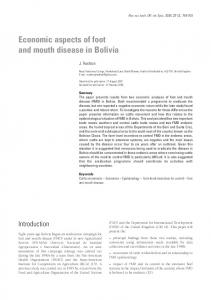 Economic aspects of foot and mouth disease in Bolivia