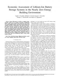 Economic Assessment of Lithium-Ion Battery Storage ...