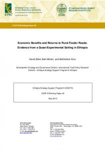 Economic Benefits and Returns to Rural Feeder Roads: Evidence from ...