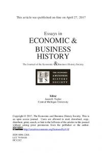 economic & business history - The Economic and Business History ...