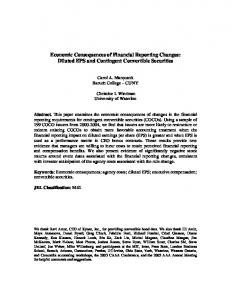 Economic Consequences of Financial Reporting ... - SSRN papers