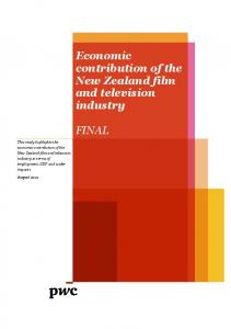 Economic Contribution of the New Zealand Film and Television I
