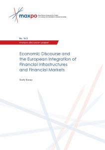 Economic Discourse and the European Integration of Financial ...
