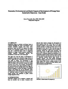 Economic, Environmental and Social Impacts of ...
